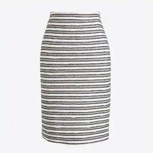 J. Crew striped terry pencil skirt